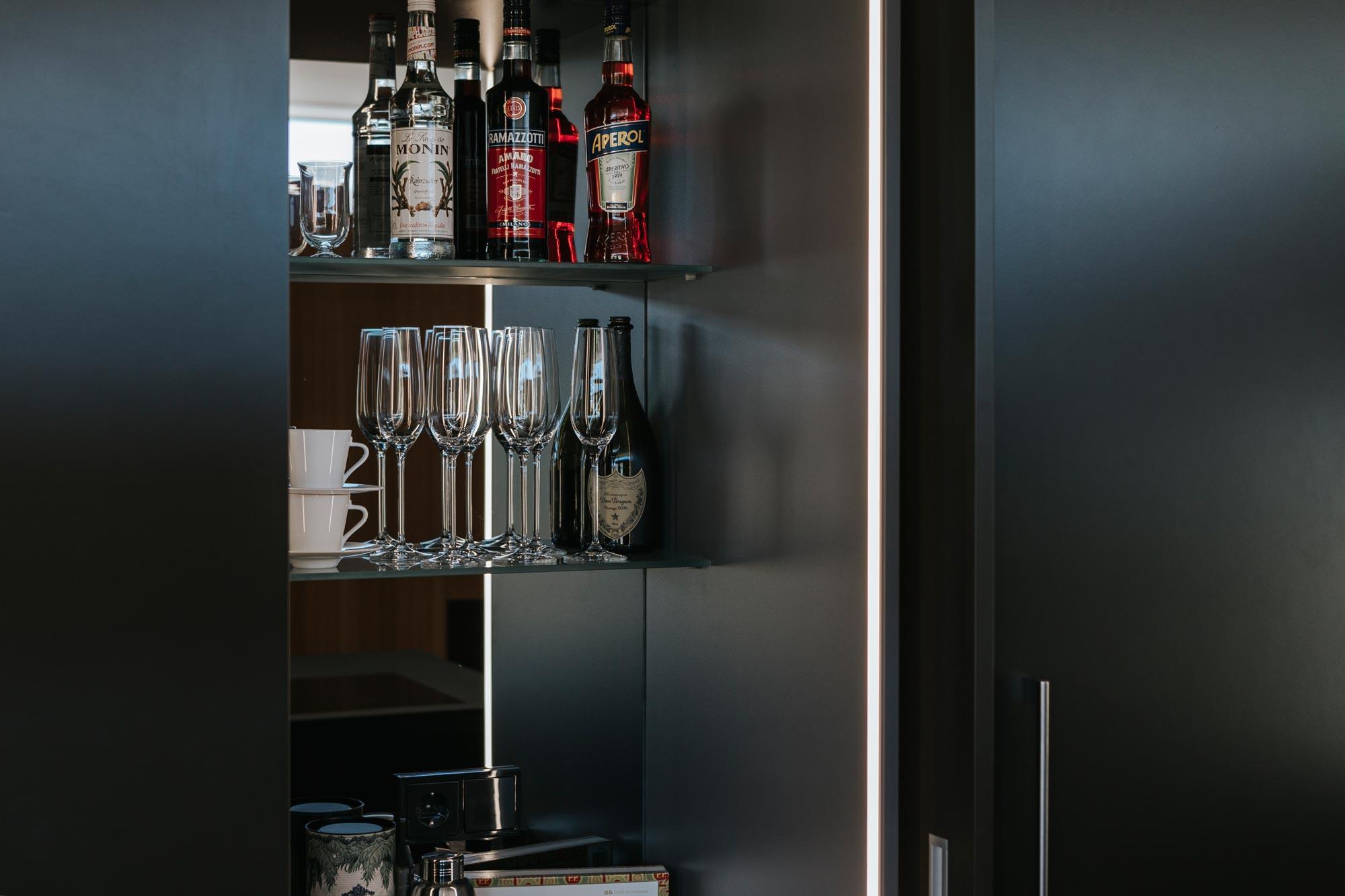 Bootshaus Küche Bar offen